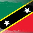 Stock Photo: Grunge flag series-Saint Kitts and Nevis