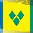 Grunge flag series-Saint Vincent Grenadines — Stock fotografie