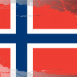 Grunge flag series-Norway — Stock Photo