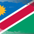 Grunge flag series-Namibia - Stock Photo