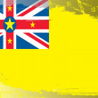 Grunge flag series-Niue — Foto de Stock