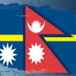 Royalty-Free Stock Photo: Grunge flag series-Nepal