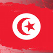 Stock Photo: Grunge flag series-Tunisia