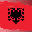 Grunge flag series-Albania — Stock Photo