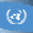 Grunge flag series-United Nations — Stock Photo