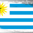 Grunge flag series-Uruguay — Stock Photo