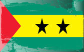 Grunge flag series-Sao Tome and Principe — Stock Photo