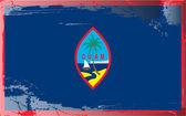 Grunge bandera serie-guam — Foto de Stock