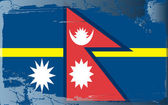 Grunge flag series-Nepal — Stock Photo