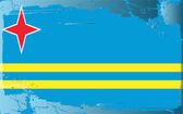 Grunge drapeau série-aruba — Photo