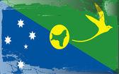 Projekt flagi serii-wyspa bożego narodzenia — Zdjęcie stockowe