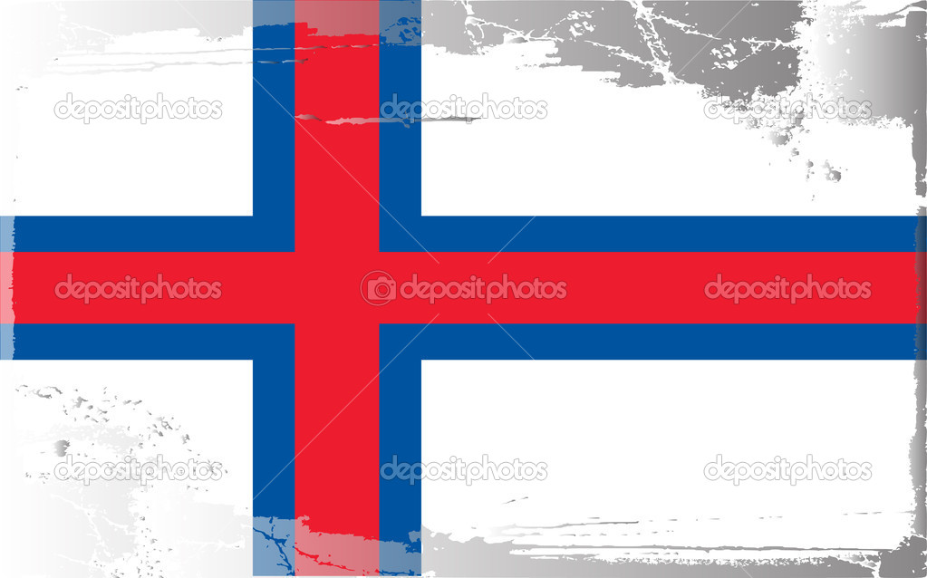 Grunge flag series-Faeroe Islands, vector illustration — Stock Photo #6216740