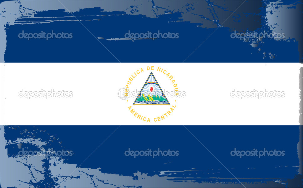 Grunge flag series-Nicaragua, vector illustration — Stock Photo #6216905