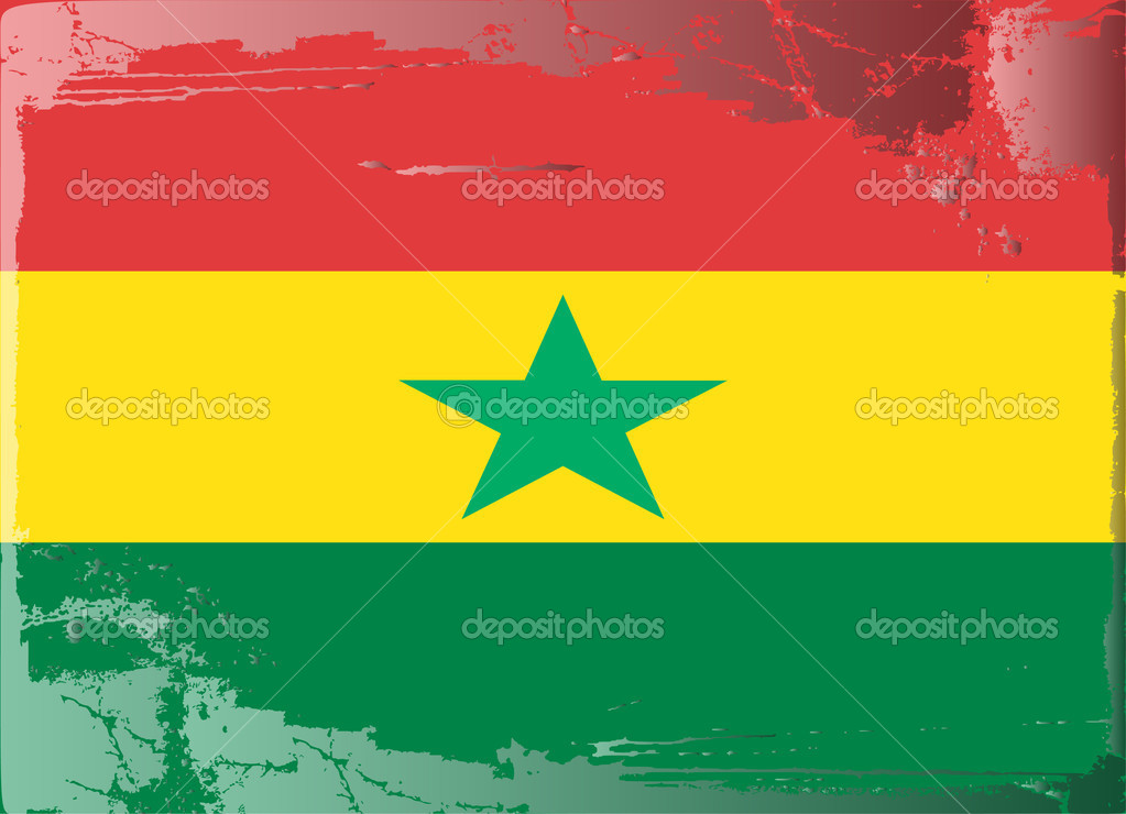 Grunge flag series-Ghana, vector illustration — Stock Photo #6216906