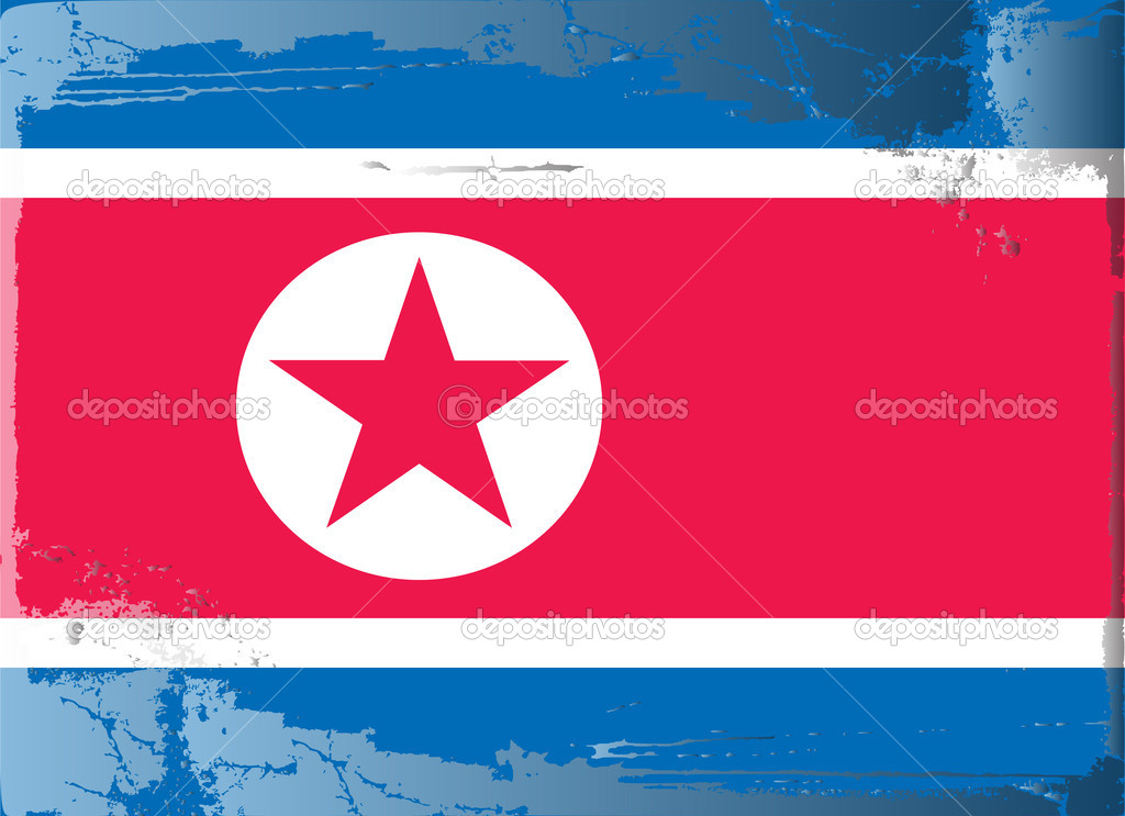 Grunge flag series-North Korea, vector illustration — Stock Photo #6216908
