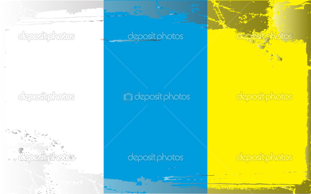 Grunge flag series-Canary Islands, vector illustration — Stock Photo #6216950