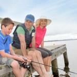 Fishing in lake — Stock Photo #5694957