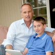 Father and son - Stockfoto