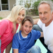 Portait of family — Stock Photo