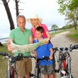 Family on a bike ride — Stock Photo #5695197