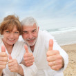 Portrait of happy senior couple — Stock Photo #5695332