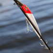 Closeup on fishing lure — Stock Photo