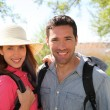 Happy couple on a hiking day — Stock Photo #5696075