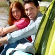 Couple doing camping in summer — Stock Photo #5696089
