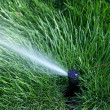 Closeup on sprinkler — Foto Stock
