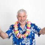 Senior man enjoying tropical vacation — Stock Photo #5696469