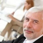 Portrait of senior businessman — Stock Photo