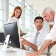 Office workers with manager in a meeting — Stock Photo
