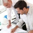 Architects working on planning — Stock Photo #5697038