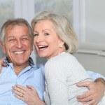 Closeup of happy senior couple — Stock Photo #5697473