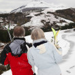 Senior couple at ski resort — Stock Photo #5697901