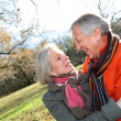 Closeup of senior couple in countryside — Stock Photo #5698023