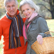 Portrait of senior couple in countryside — Stock Photo #5698060