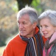 Stock Photo: Portrait of senior couple in countryside
