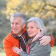 Portrait of senior couple in countryside — Stock Photo #5698068