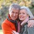 Portrait of senior couple in countryside — Stock Photo #5698070