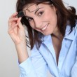 Stock fotografie: Portrait of businesswoman with eyeglasses