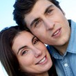 Closeup of young couple — Stock Photo
