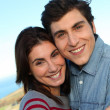 Closeup of young couple — Stock Photo #5698421