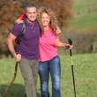 Couple on a hiking day — Foto de stock #5698824