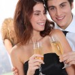 Couple celebrating new year's eve — Stock Photo #5699034