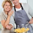 Couple cooking — Stock Photo #5699075