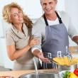 Couple cooking — Stock Photo #5699077