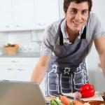 Man in kitchen — Stock Photo #5699087