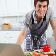 Man in kitchen — Stock Photo