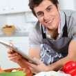 Stock Photo: Man in kitchen